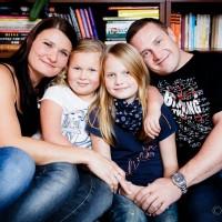 Rodinné fotka v domácím prostředí