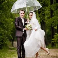 Déšť na svatbě - kapky štěstí (© Jan Jirouš)