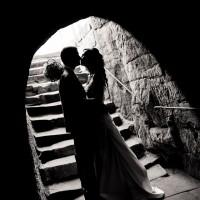 Silueta nevěsty a ženicha - hrad Valdštejn (© Jan Jirouš)