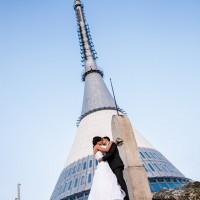 Svatební foto na Ještědu (© Jan Jirouš)