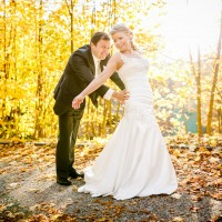 Podzimní svatba - Špindlerův Mlýn, novomanželé (© Jan Jirouš)
