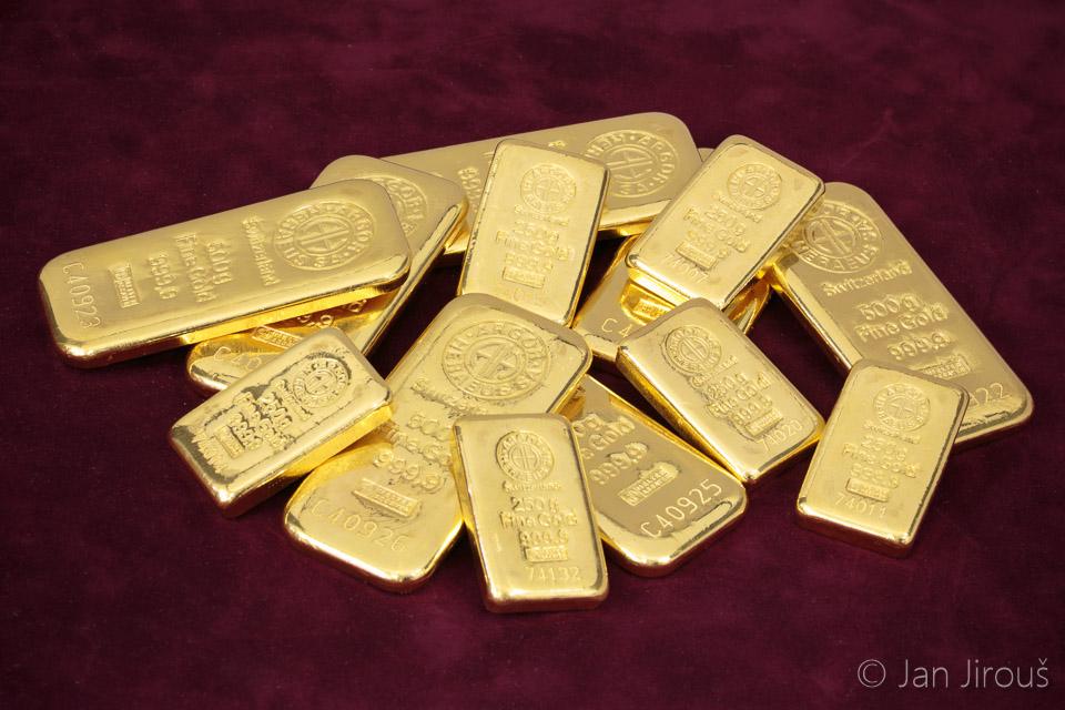 Zlaté cihličky - investiční zlato - Česká mincovna