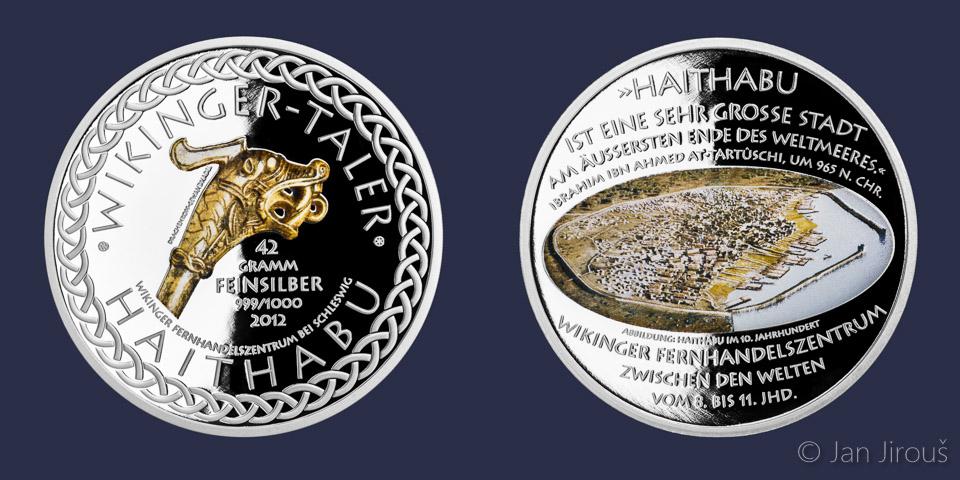 Stříbrná vikinkgská medaile, proof
