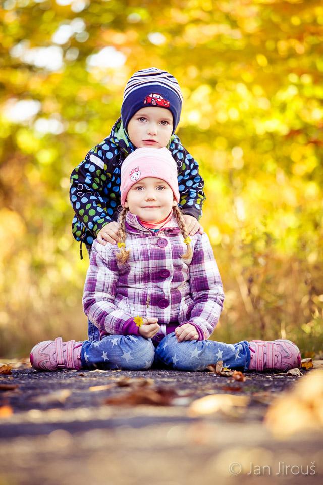 Fotografování dětí, podzim