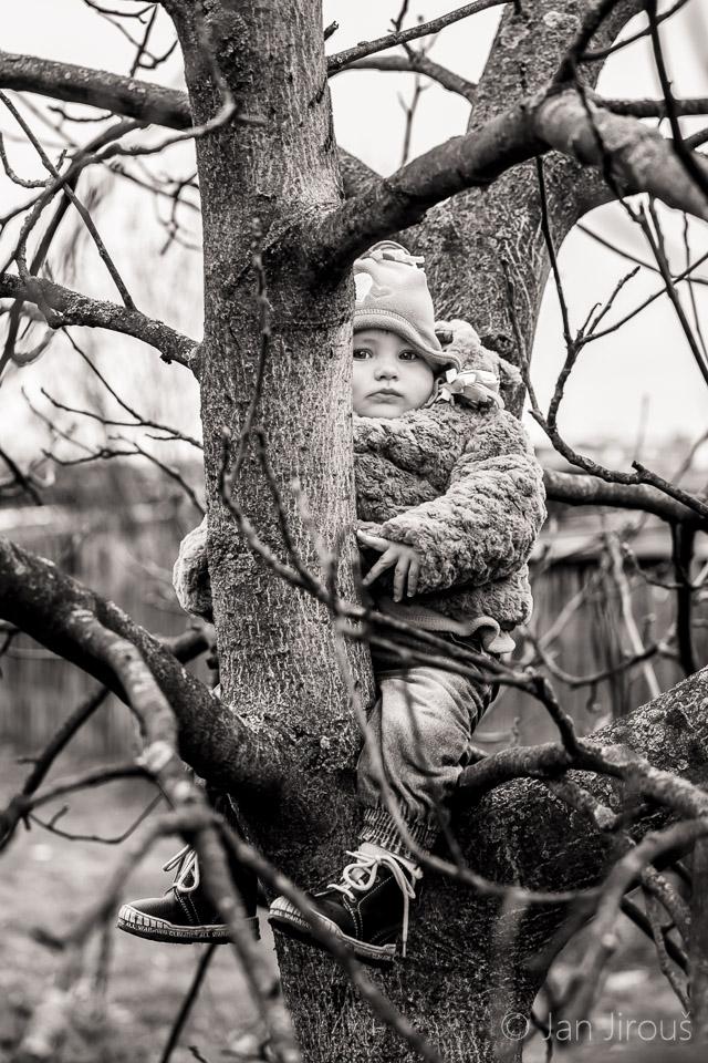 Focení dětí na zahradě