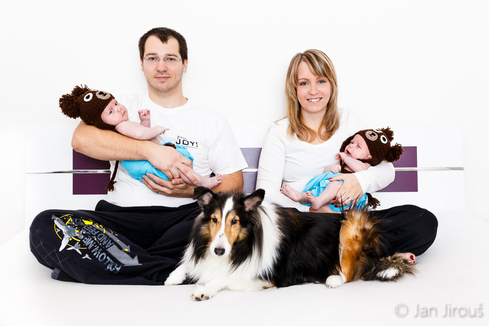 Rodinné foto doma