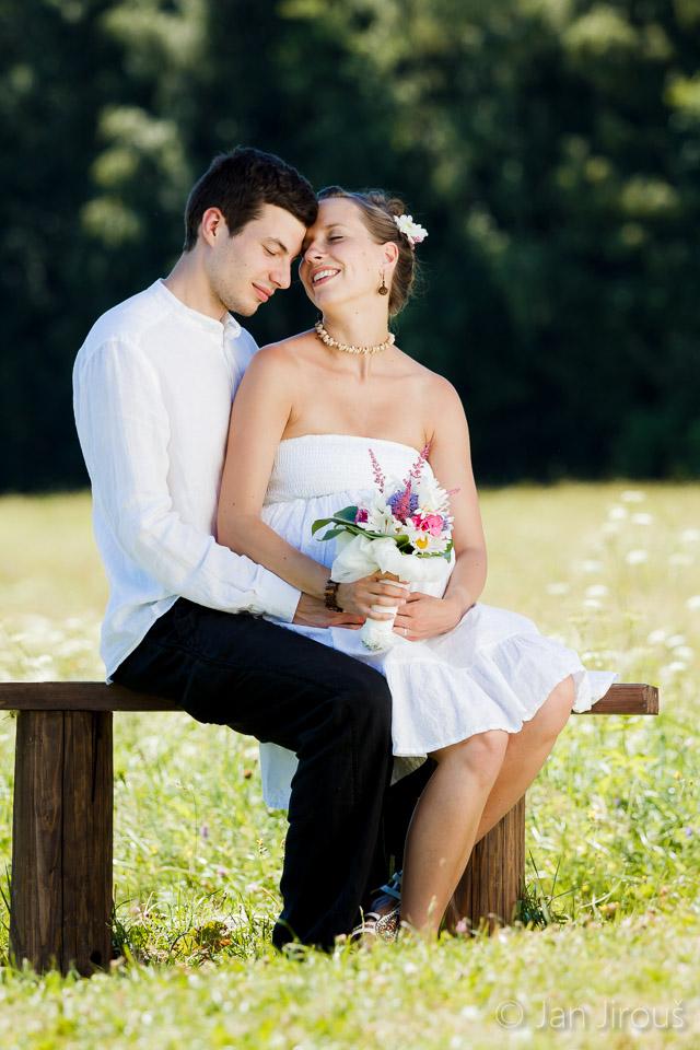 Ženich s nevěstou - svatba Rejdice (© Jan Jirouš)